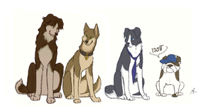 Supernatural dogs by FourDirtyPaws