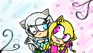 Gold and Bella :request: by Christythecat123