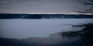 Snow covered lake view by Tech-NoirSWE