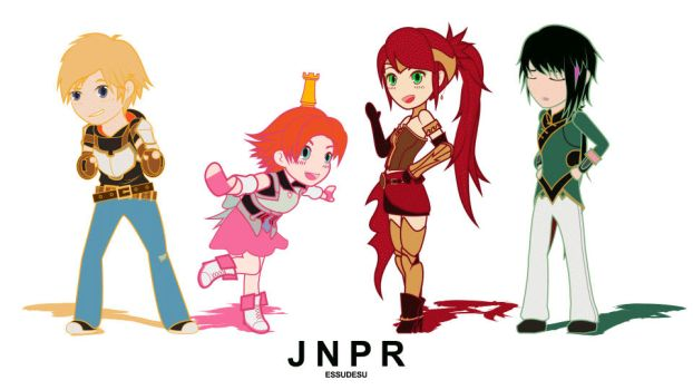 Rwby - chibiRWBY series animated loop! Team JNPR! by Essynthesis
