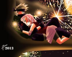New Year of Kakashi and Sakura by ZuJankowskaProject