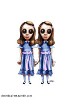 Daily Warm-up: The Twins from The Shining by derekblairart
