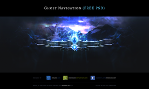 Ghost Navigation - Free PSD by MrZielsko