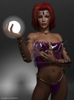 Lady With Glowball by Latexluv