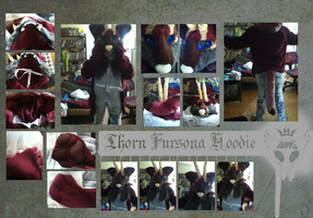 Thorn Fursona Hoodie by Damned-Rose