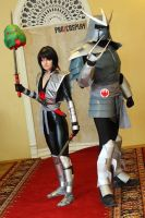 The Shredder and Karai cosplay by CharlieHotshot
