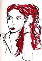 The lady with the red hair by HPMATT