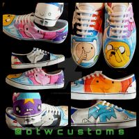 Adventure Time Custom Vans by VeryBadThing
