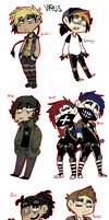 VIRUS Characters by BlasticHeart
