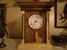 mantle clock by tntwooddesign