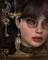 SV's Steampunk Earrings by cosmosue