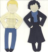 Sherlock and John bookmarks by nottotallyhere