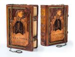 Leather journal in Anatomical thematic by alexlibris999