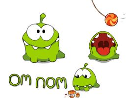 Om Nom: Cut the Rope by Super3dcow