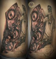 3 session Car chicana gang Tat by 2Face-Tattoo