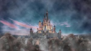 Wookie Attack on Disney by Corvaayne