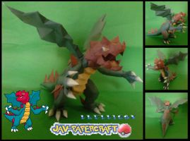Druddigon papercraft by javierini