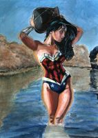 Wonder Woman Painting by dtor91