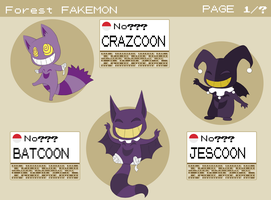 Fakemon Dex - Crazcoon and evolutions by Maipee-Chan