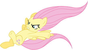 Fluttershy Vector - Hiiyah! by Anxet