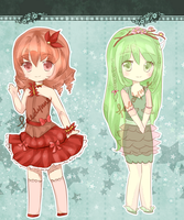 Adoptables Auction: Autumn and Spring [CLOSED] by fae-ru