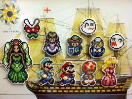 Mario and Zelda cross stitch magnets by kisutra