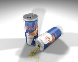 red bull can by rejectsocietyfx