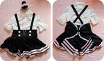 Black and Pink Lolita High Waisted Skirt by Kitty-Sprinkles