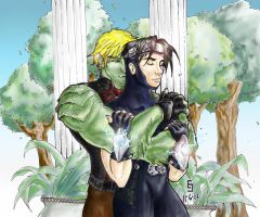 Hulkling + Wiccan by cirgy
