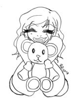 -+ Reli and Teddy Sketch +- by relisabby