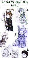 Loki Sketch Dump 2012 part 1 by DarthxErik