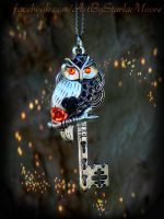 Halloween Owl Key by ArtByStarlaMoore