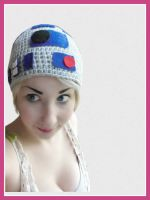 R2D2 Crochet Hat by Ashler-Sauce