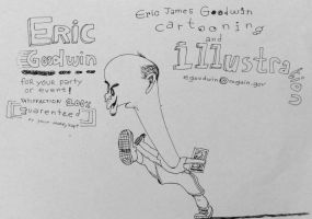 Eric Goodwin Caricature by aaronphilby