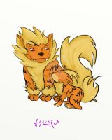 Speed Paint: Arcanine and Growlithe by musiicalsoulz