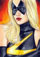 Ms. Marvel Sketch Card 2 by veripwolf