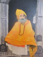 Painting of Monk by phillll