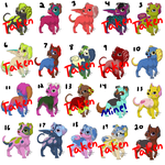 -ADOPT UPDATE- 20 Puppy Adoptables: 8 LEFT by Spychedelic