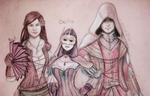 Assassin's Creed Brotherhood Characters by Pencilsketches