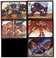 Voltron 5finity Sketch Cards by TerryTibke