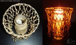 Macrame candle holder by MissAnnThropia