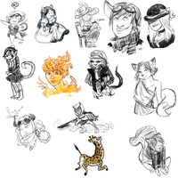 Gaia Scribbles by anoneemoose