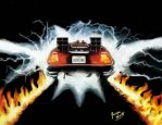 Back to the Future The Delorean by ScullyNess