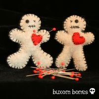VooDoo Dolly Brooch by BuxomBones by BuxomBones