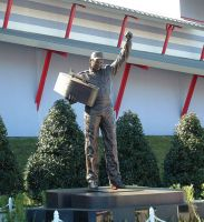 Dale Earnhardt Statue by Dracoart-Stock