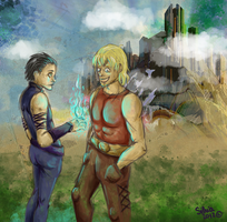 Young Thor and Loki by ilcielocapovolto