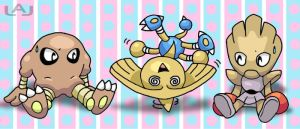 PokeBabies: Hitmontots by Red-Flare