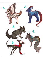 Canines [OPEN][1/5] by Kama-ItaeteXIII