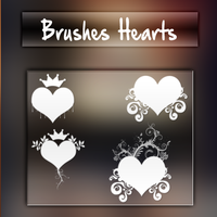 Brushes Hearts - Ami (MixColors) by YouMightBeTheOne