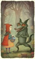 Little Red-Cap and the Wolf by V-L-A-D-I-M-I-R